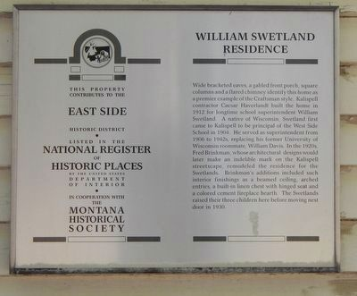 William Swetland Residence Marker image. Click for full size.
