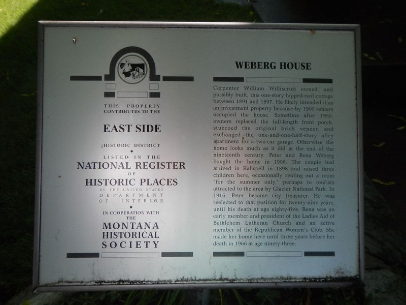 Weberg House Marker image. Click for full size.