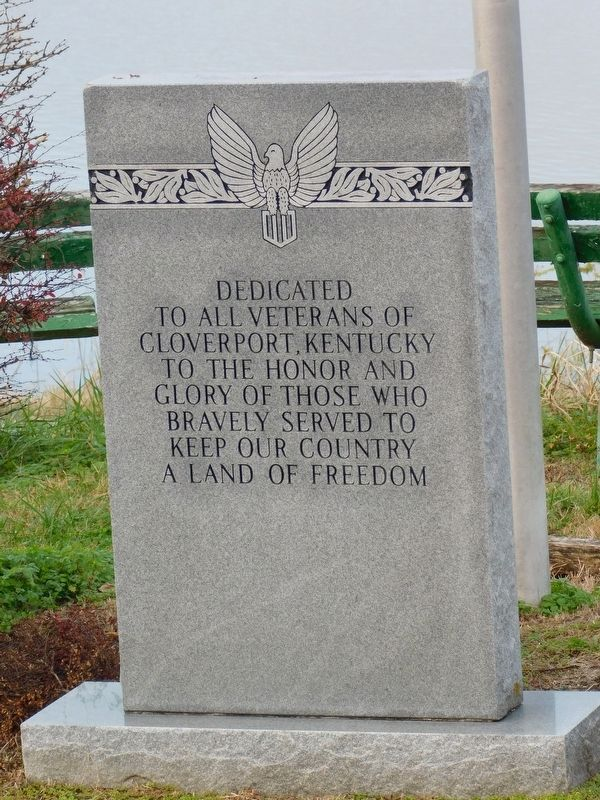 Cloverport Veterans Monument image. Click for full size.