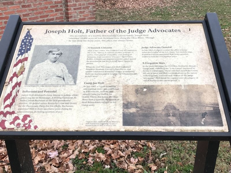 Joseph Holt, Father of the Judge Advocates Marker image. Click for full size.