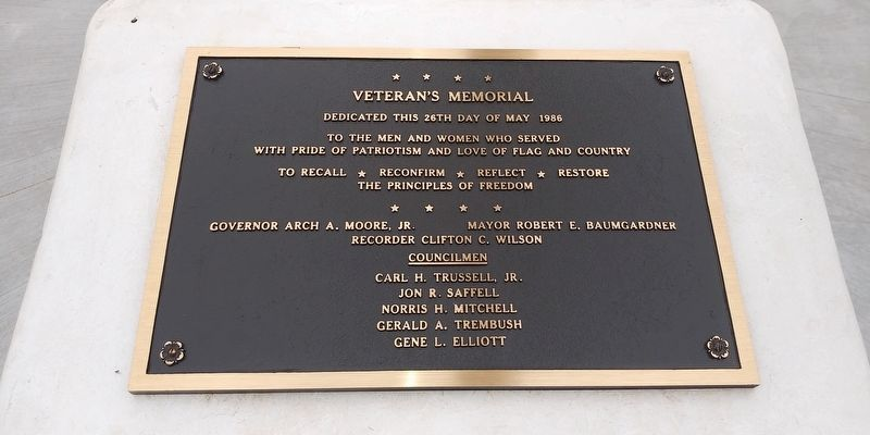 Veteran's Memorial image. Click for full size.