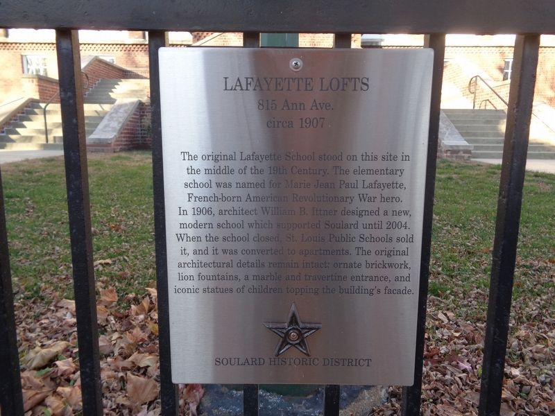 Lafayette Lofts Marker image. Click for full size.