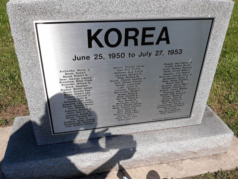 Lucas County Korea Veterans Memorial image. Click for full size.