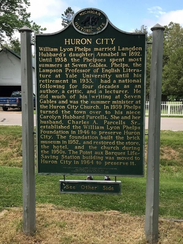 Huron City Marker - Side Two image. Click for full size.