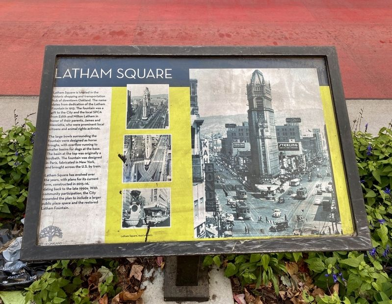 Latham Square Marker image. Click for full size.