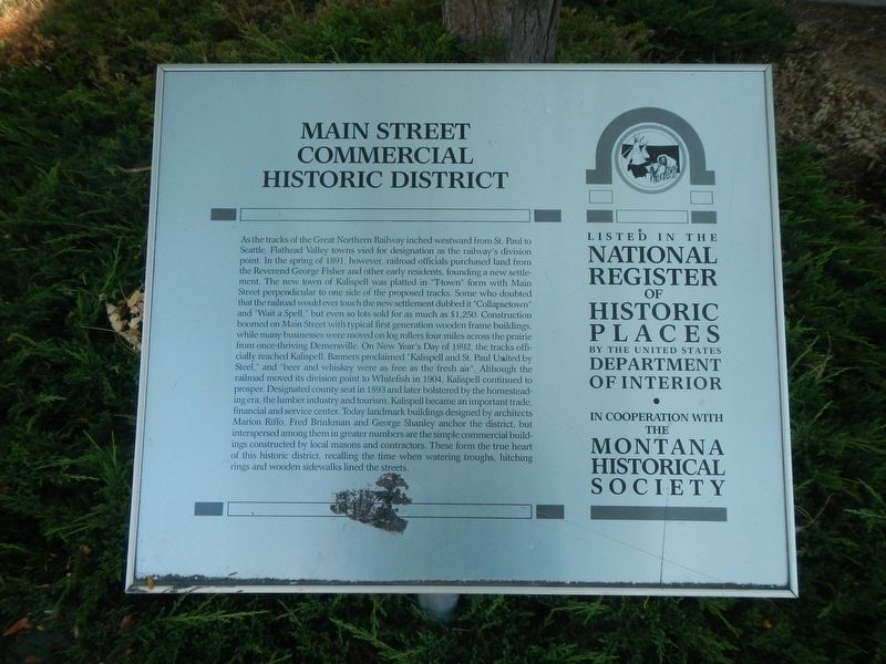 Main Street Commercial Historic District Marker image. Click for full size.