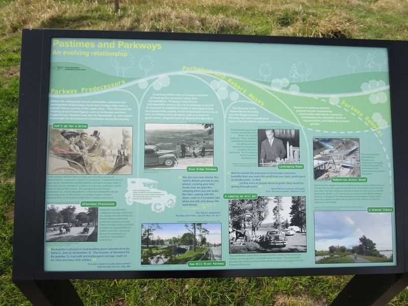 Pastimes and Parkways Marker image. Click for full size.