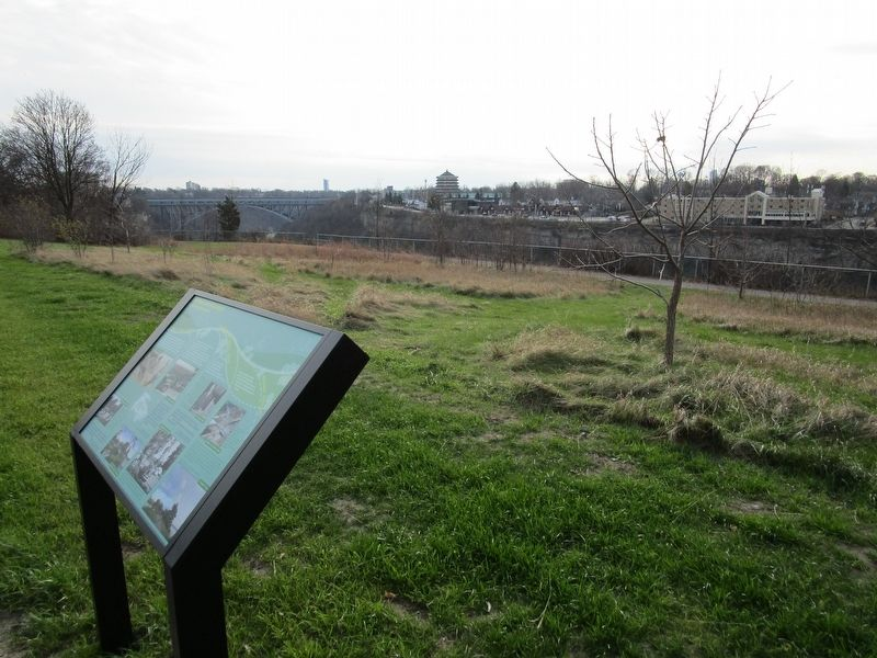 Pastimes and Parkways Marker and Gorge image. Click for full size.