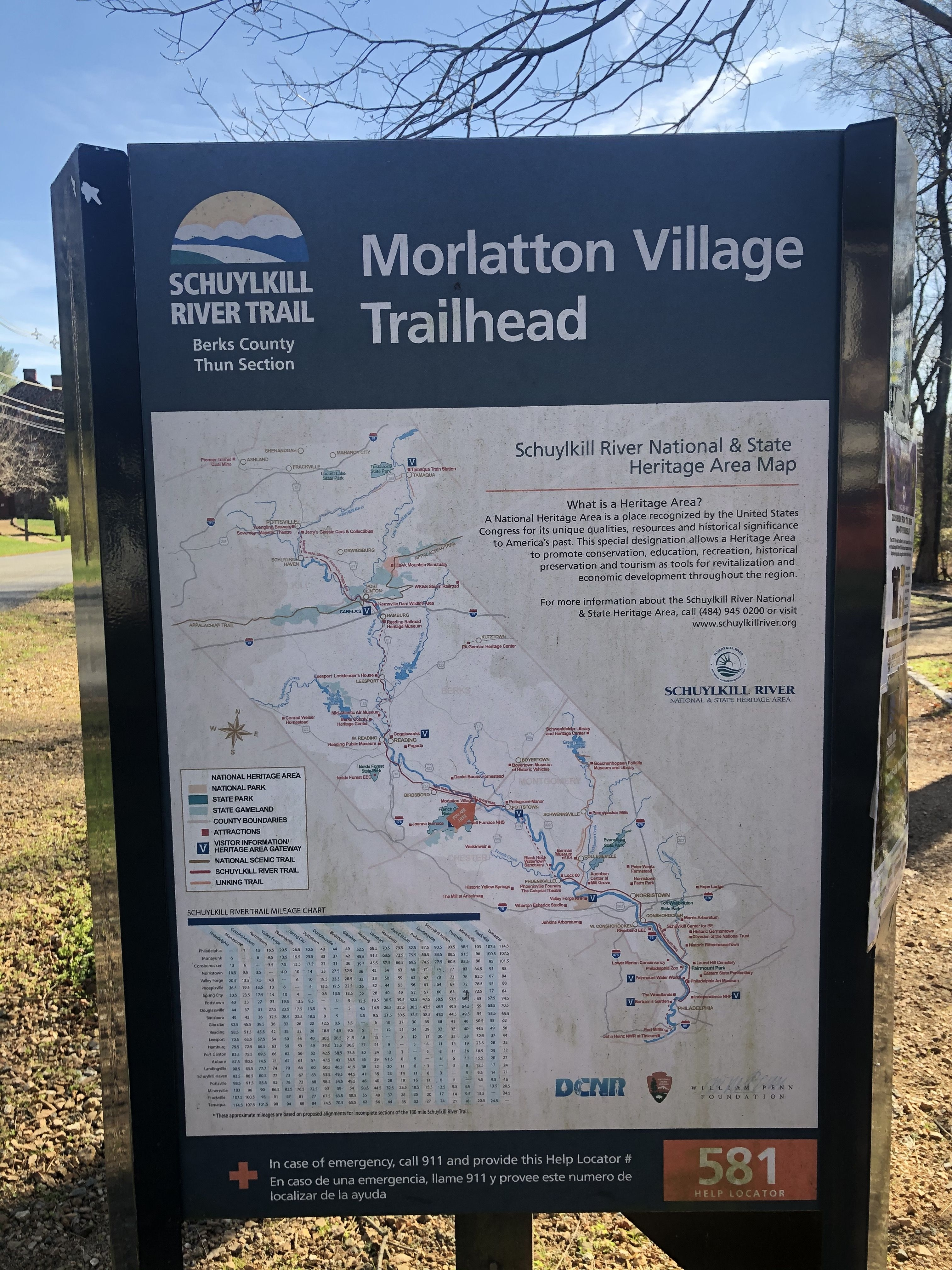 Morlatton Village Trailhead Marker