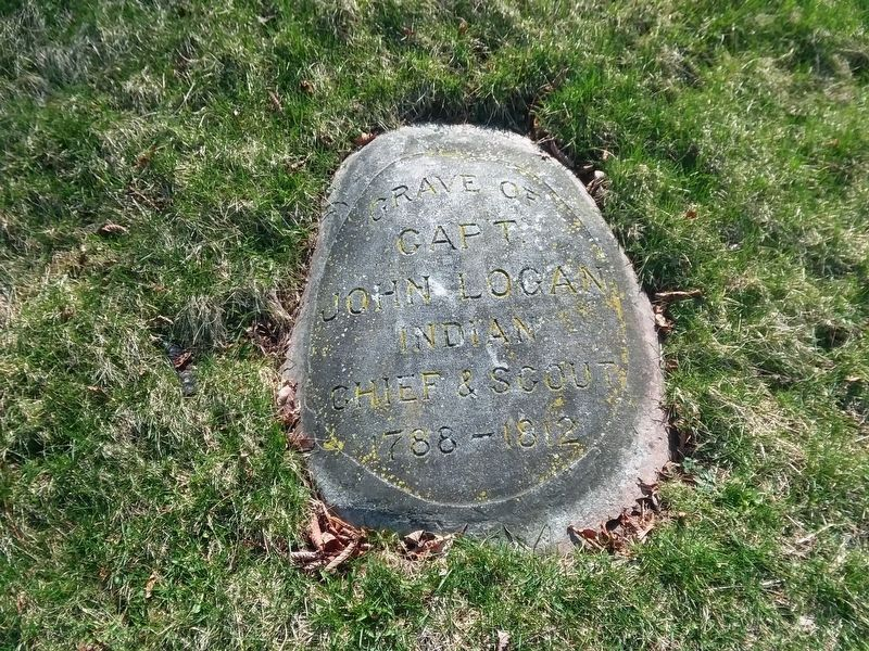 Johnny Logan Burial Site Marker image. Click for full size.