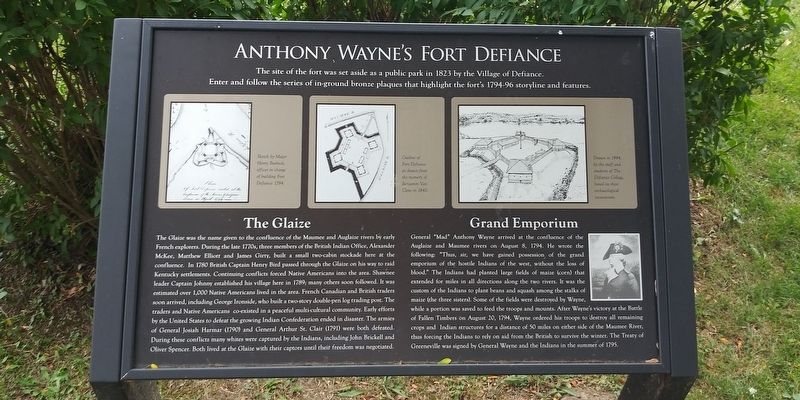 Anthony Wayne's Fort Defiance Marker image. Click for full size.
