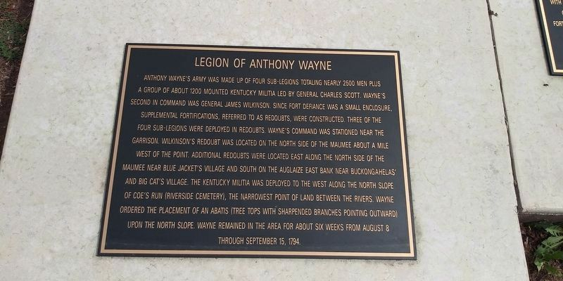 Legion of Anthony Wayne Marker image. Click for full size.