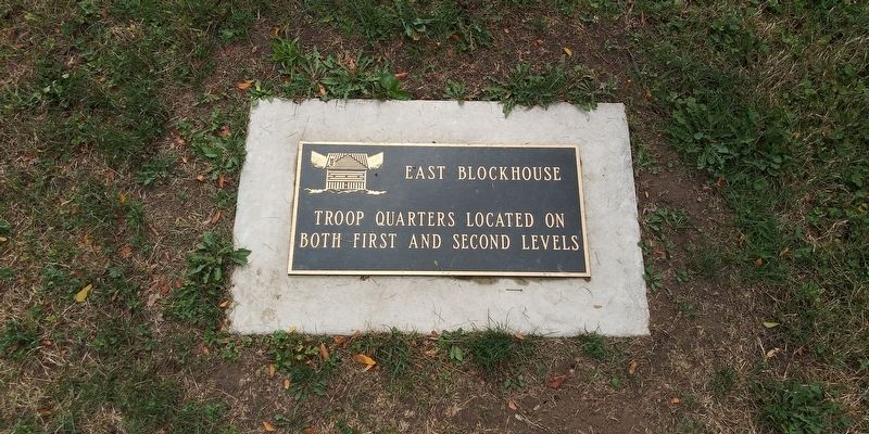 East Blockhouse Marker image. Click for full size.
