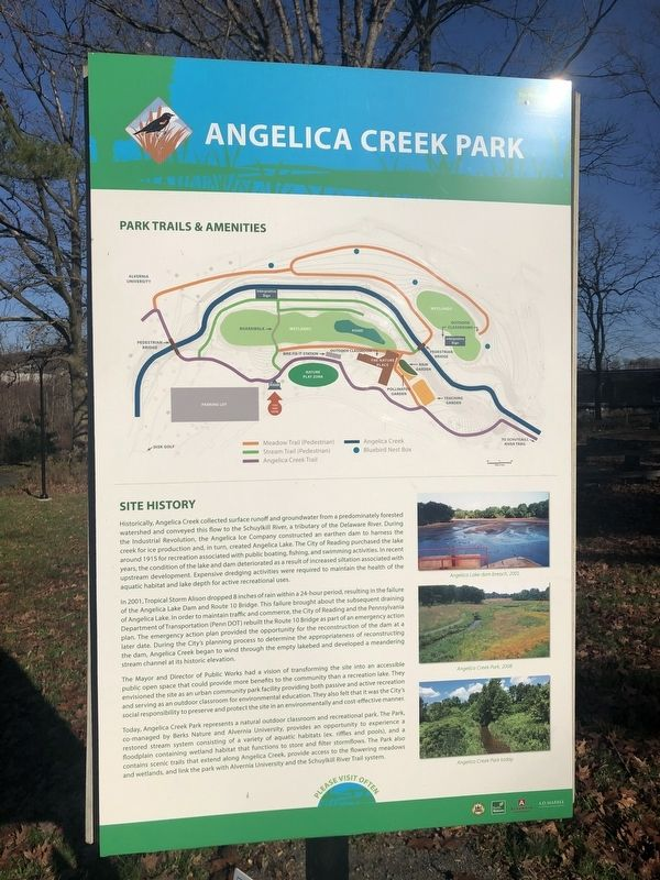Angelica Creek Park Marker image. Click for full size.