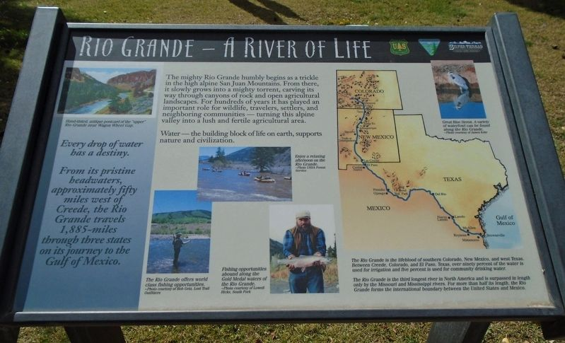 Rio Grande — A River of Life Marker image. Click for full size.