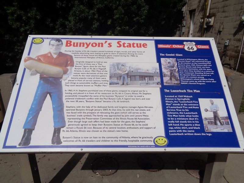 Bunyon's Statue Marker image. Click for full size.