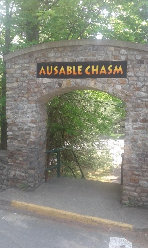 "Ausable Chasm''s ""Famous Boat Ride"" Marker image. Click for full size."