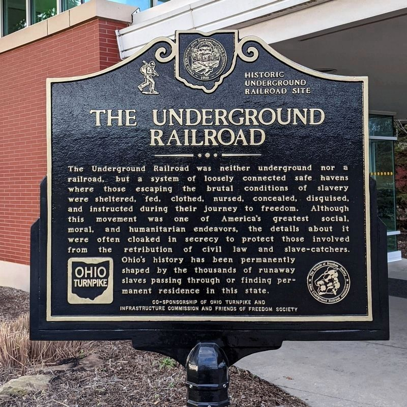The Underground Railroad Marker (side 1) image. Click for full size.