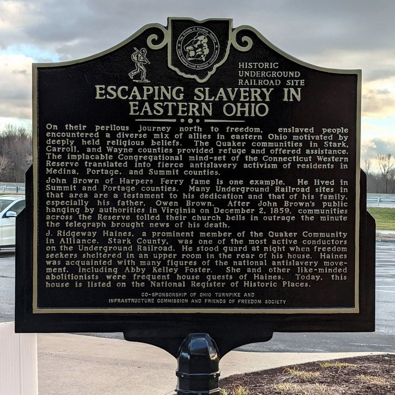 Escaping Slavery In Eastern Ohio Marker (side 2) image. Click for full size.