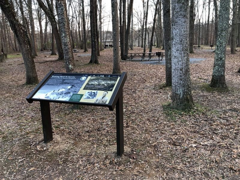 An identical marker can be found in the other parking lot for the Carderock Recreation Area image. Click for full size.