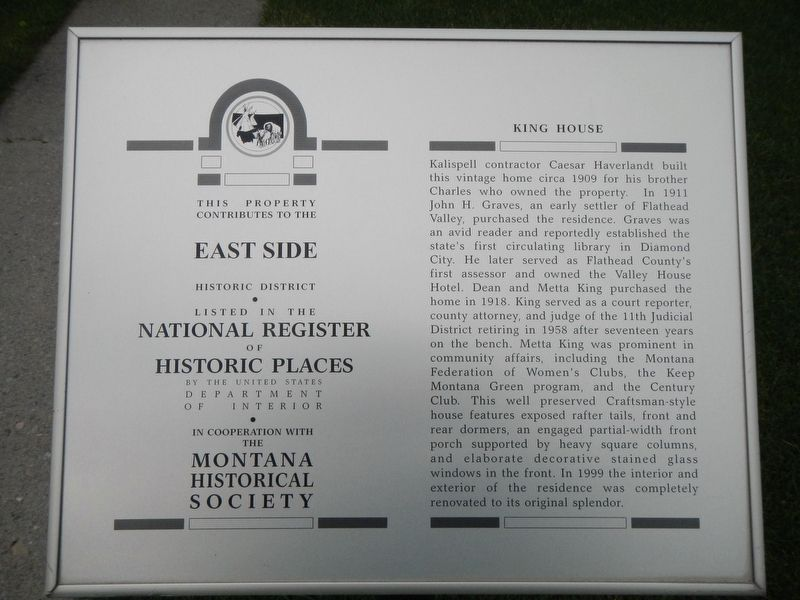 King House Marker image. Click for full size.