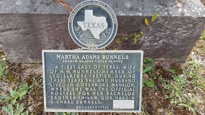 Martha Adams Runnels Marker image. Click for full size.