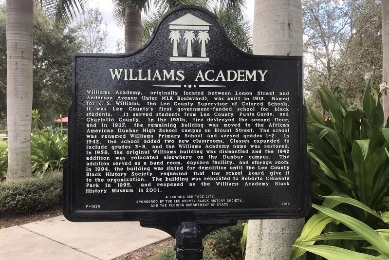 Williams Academy Marker image. Click for full size.