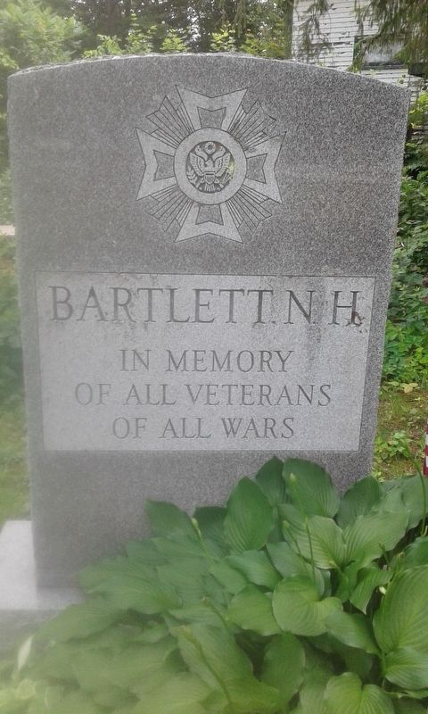 Bartlett, N.H. Veterans Memorial image. Click for full size.