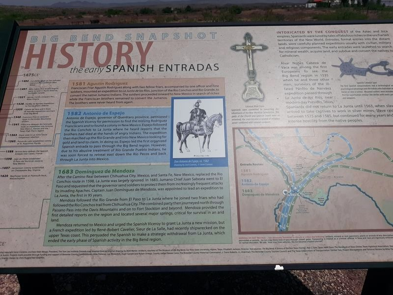 Early Spanish Entradas Marker image. Click for full size.