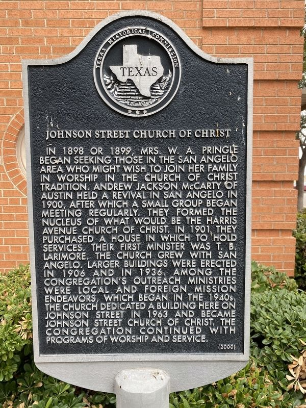 ​Johnson Street Church of Christ Marker image. Click for full size.