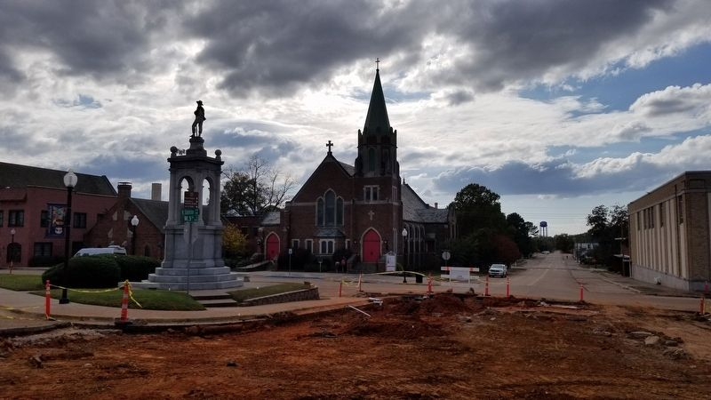 The view of St. James Episcopal Church from the Courthouse. image. Click for full size.