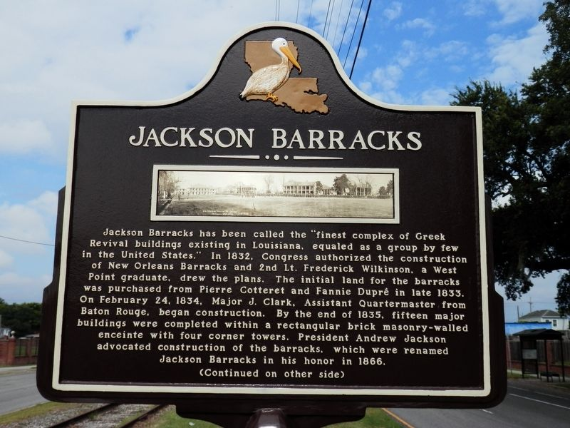 Jackson Barracks Marker image. Click for full size.