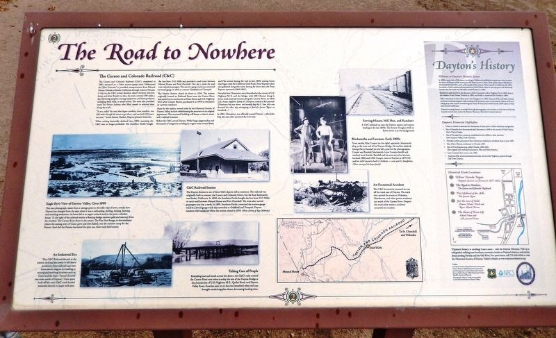 The Road to Nowhere Marker image. Click for full size.