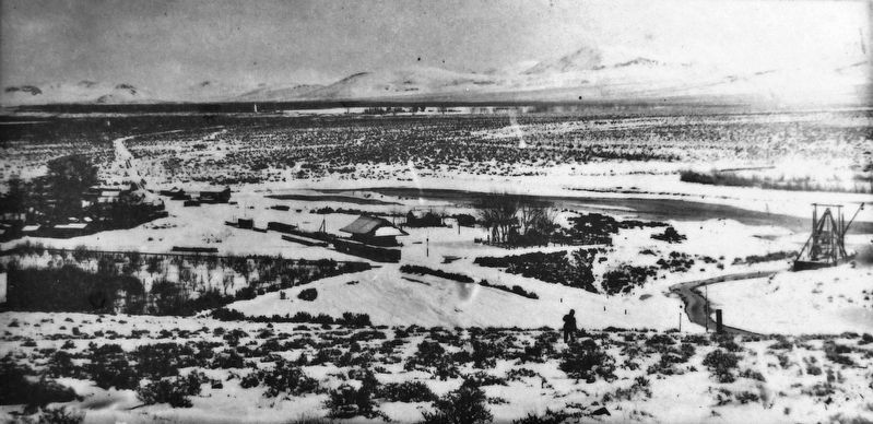 Marker detail: Eagle Eye's View of Dayton Valley, circa 1890 image. Click for full size.