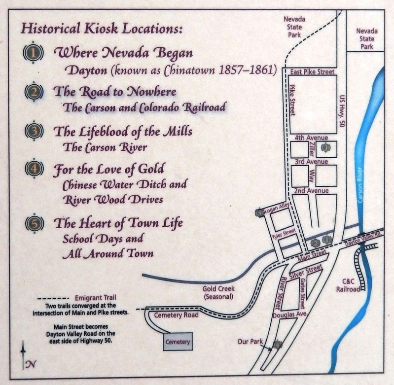 Marker detail: Historical Kiosk Locations image. Click for full size.