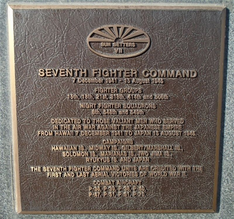 Seventh Fighter Command Marker image. Click for full size.