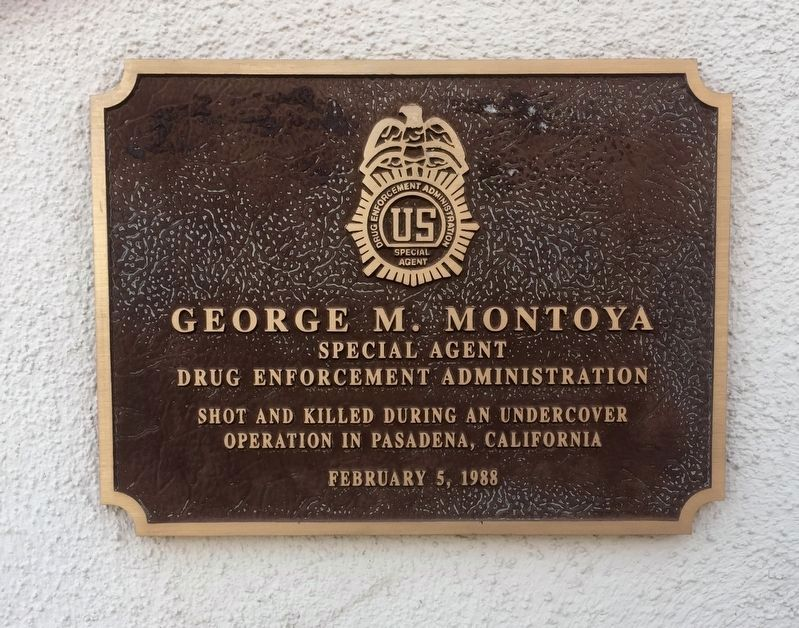 George Montoya Memorial Plaque image. Click for full size.