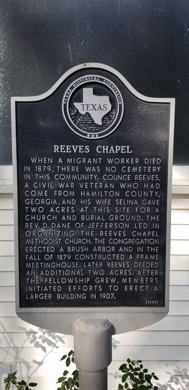 Reeves Chapel Marker image. Click for full size.