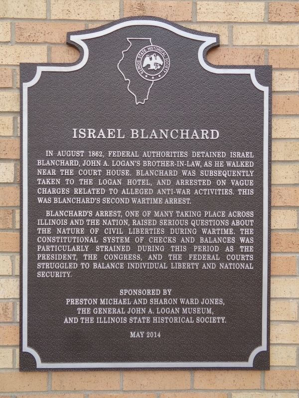 Israel Blanchard Marker image. Click for full size.