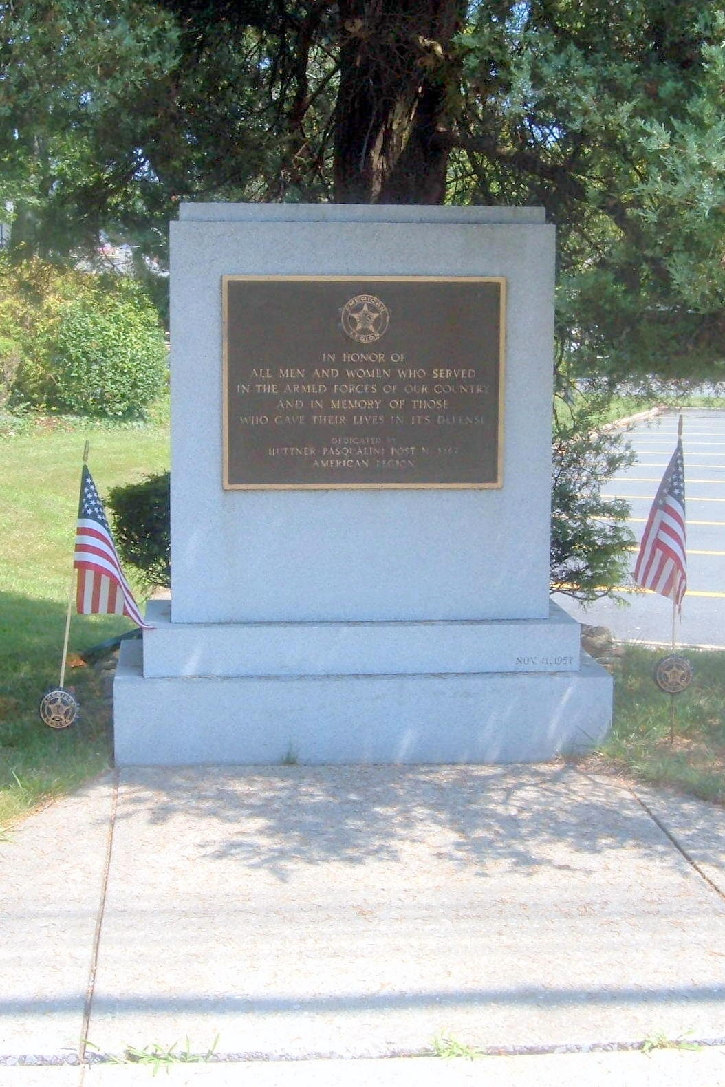 Huttner-Pasqualini Post, American Legion Memorial