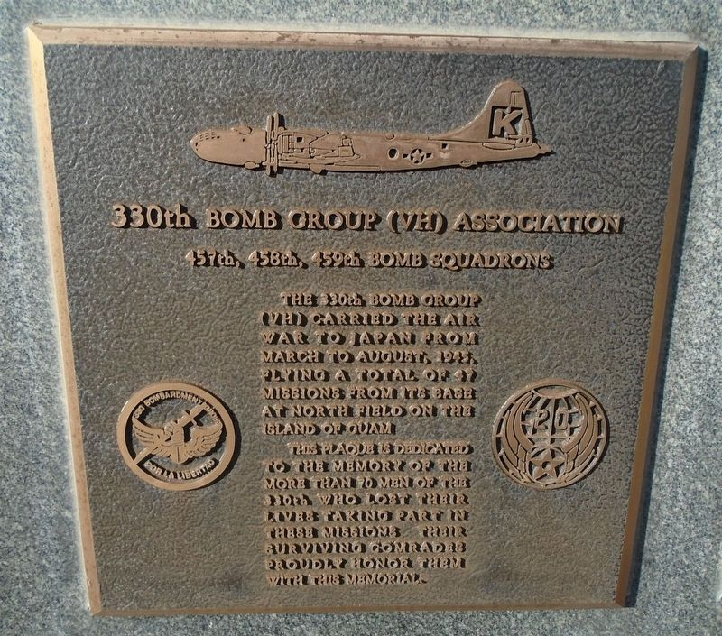 330th Bomb Group (VH) Association Marker image. Click for full size.