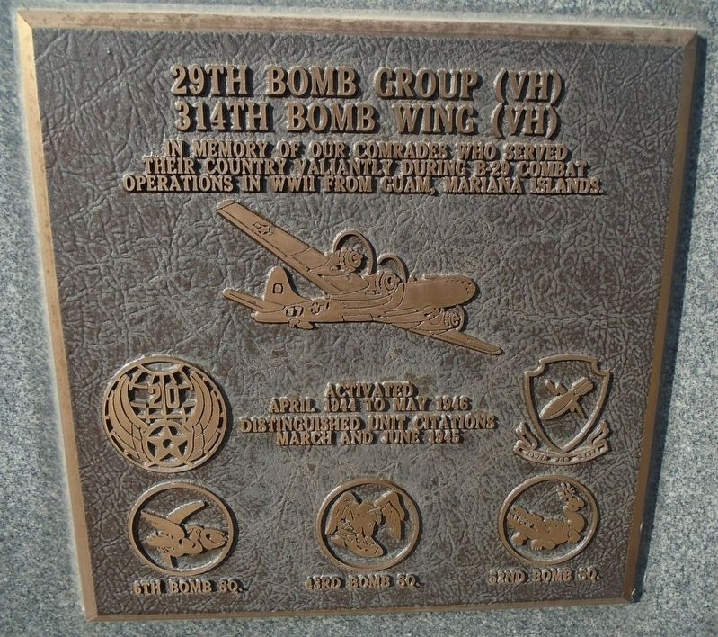 29th Bomb Group (VH) Marker image. Click for full size.