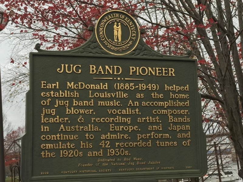 Jug Band Pioneer Marker image. Click for full size.