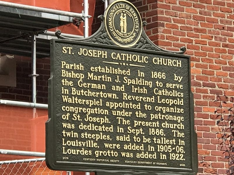 St. Joseph Catholic Church Marker image. Click for full size.