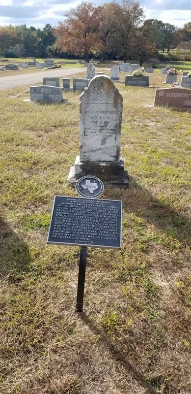 Franklin Columbus Woodard Marker and gravestone image. Click for full size.