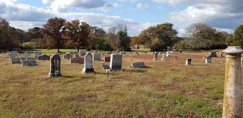 A view of the cemetery with the Franklin Columbus Woodard Marker image. Click for full size.