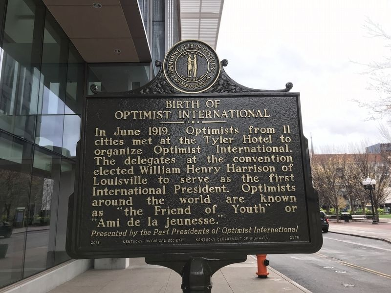 Birth of Optimist International Marker image. Click for full size.