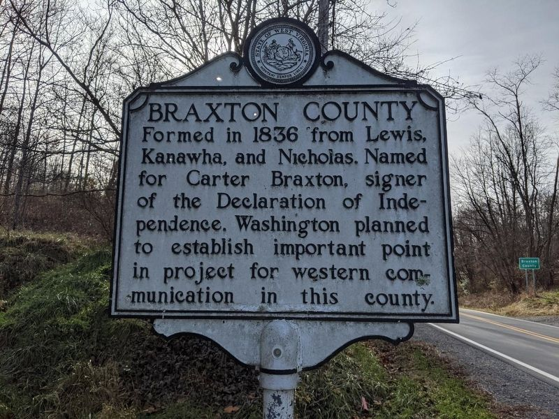 Lewis County / Braxton County Marker image. Click for full size.