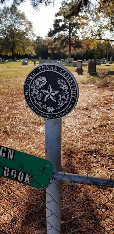 The Historic Cemetery Medallion #17104 image. Click for full size.