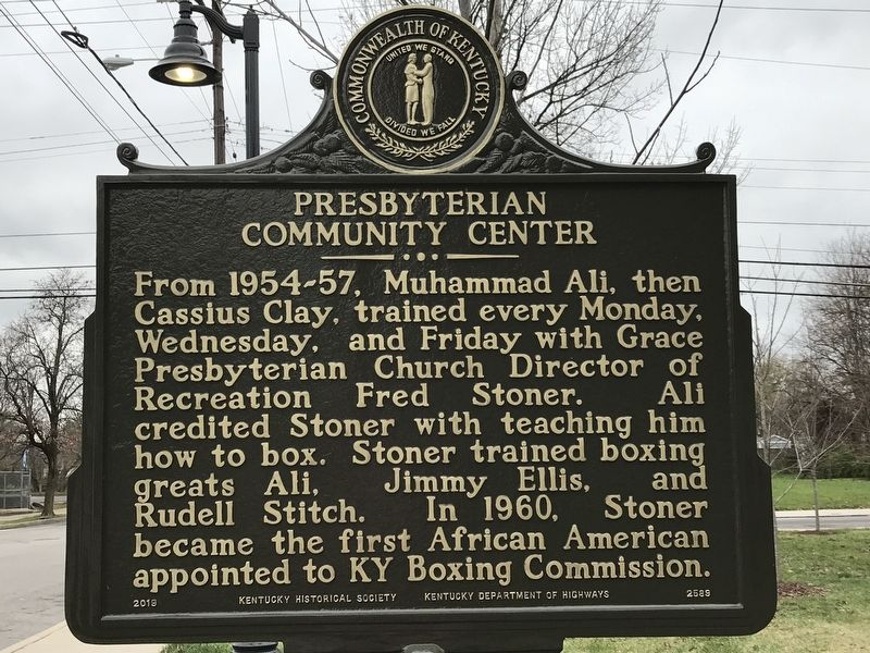 Presbyterian Community Center Marker (Side B) image. Click for full size.